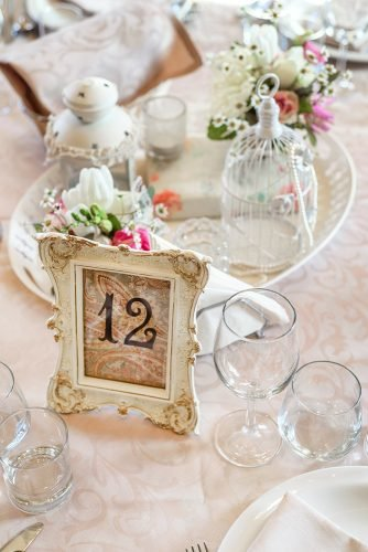 wedding on a budget wedding reception table number