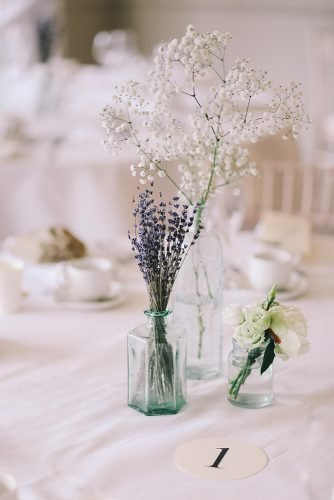 wedding on a budget wedding table glass centerpieces