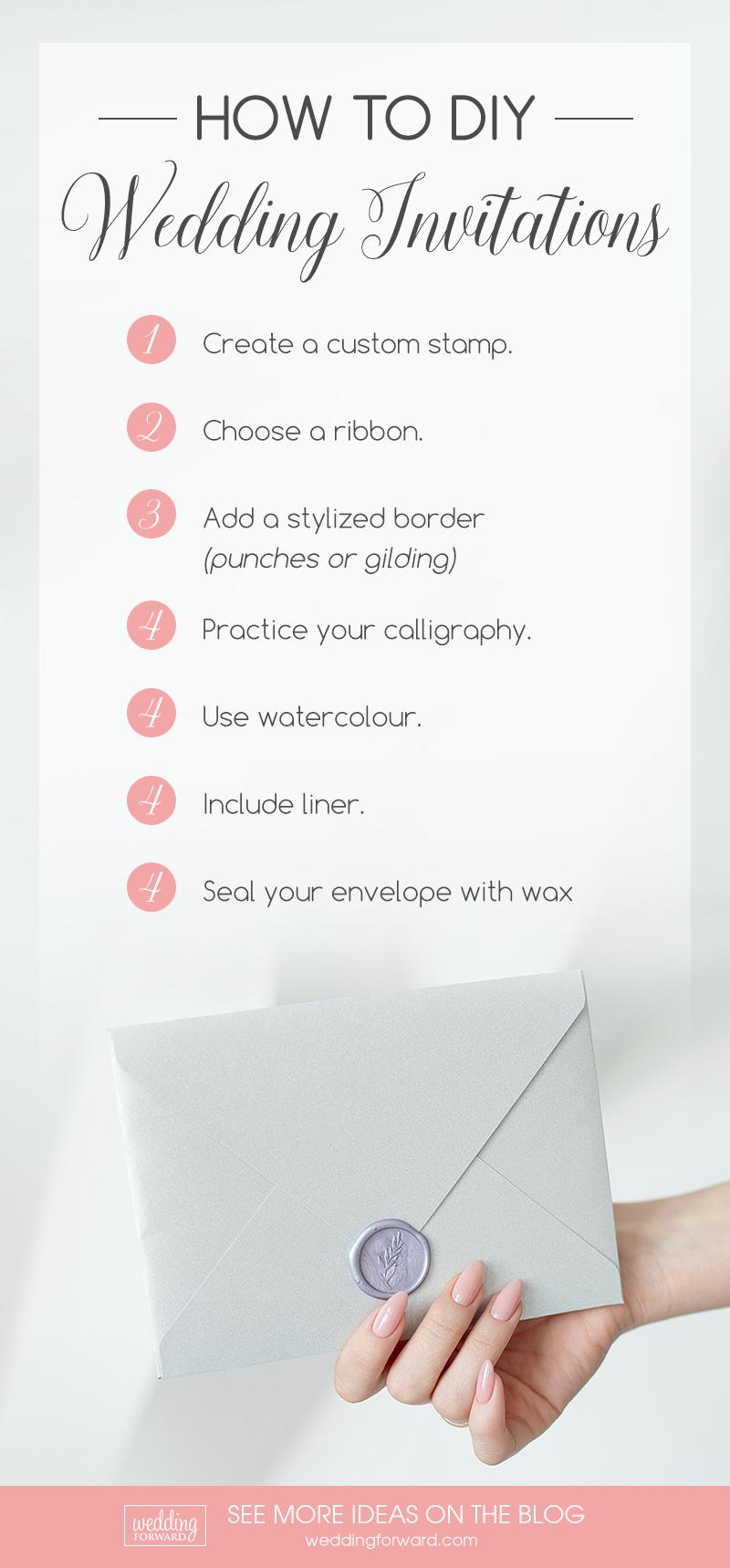 DIY Wedding Invitations infographic