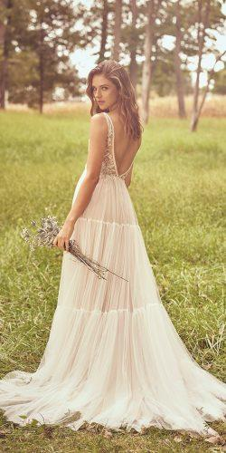 a line wedding dresses bohemian v back rustic lace top justinalexander