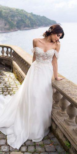 a line wedding dresses off the shoulder sweetheart floral appliques maisonsignore