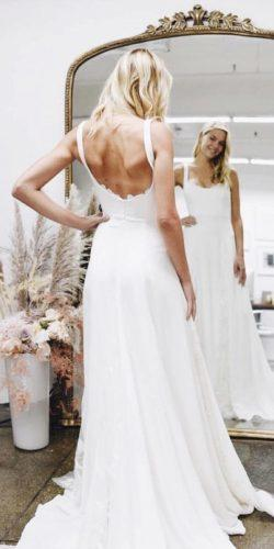 a line wedding dresses simple low back for beach country alexandragrecco