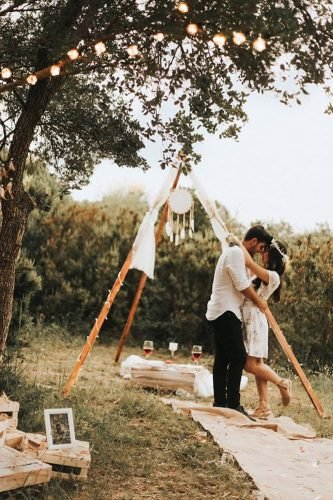 bohemian wedding ideas ceremony outdoor with dream catcher huseyinkurt_wedding