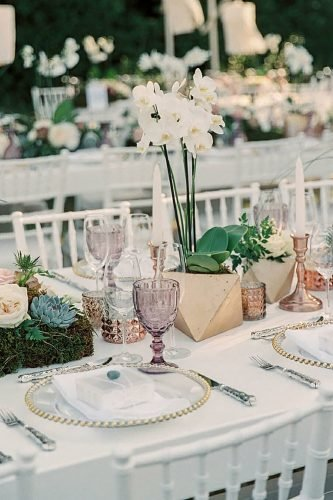 bohemian wedding ideas modern boho table with orchid sotiris_tsakanikas