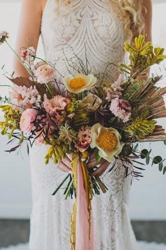 bohemian wedding ideas summer bouquet katiepritchard