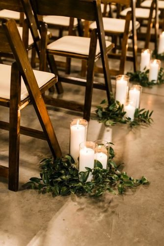 cheap wedding decorations candle in aisle Greta Tucker Photo