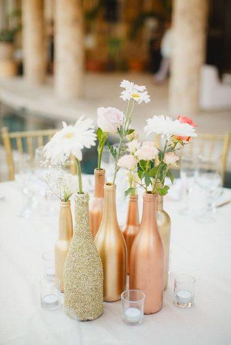 cheap wedding decorations gold bottles Photo By Julieta