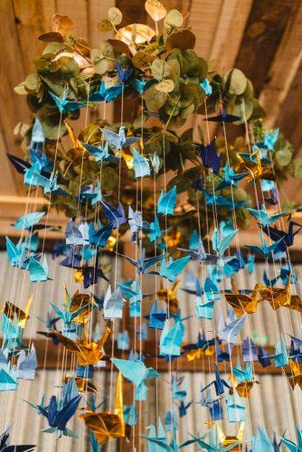 cheap wedding decorations paper birds Bethany Young Photography