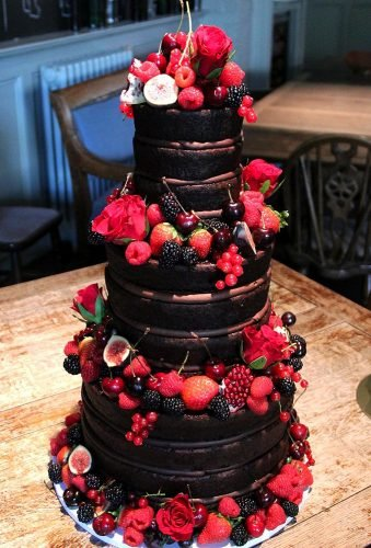colored wedding cakes chocolate fruit cake loverosie cakes