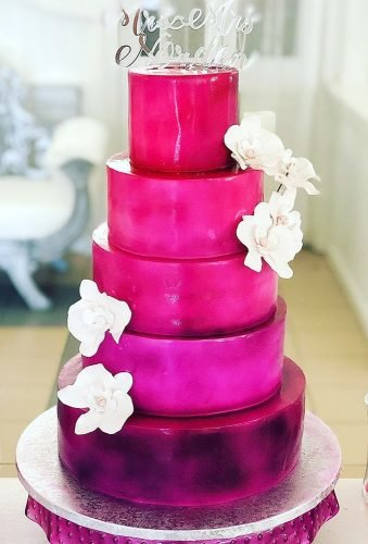 colored wedding cakes purple cake cookile