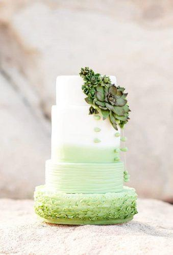 colored wedding cakes rufler green cake sugarbytracy