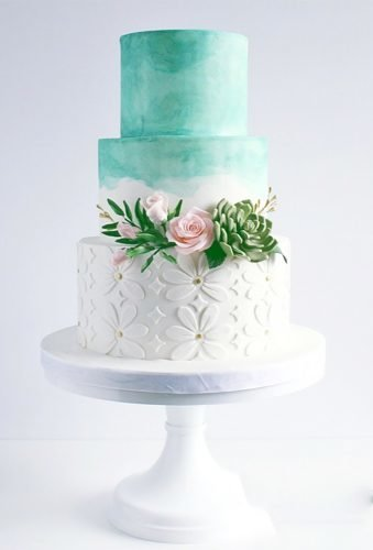 colored wedding cakes tender green cake Coco Paloma Desserts