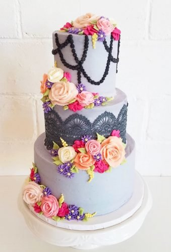 colored wedding cakes tender grey cake jennysweetcakes
