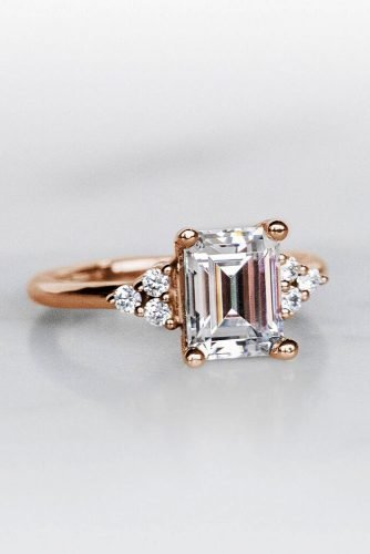emerald cut engagement rings rose gold engagement rings unique engagement rings diamondnexus
