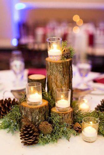 forest wedding theme forest centerpiece Candice Adelle Photography