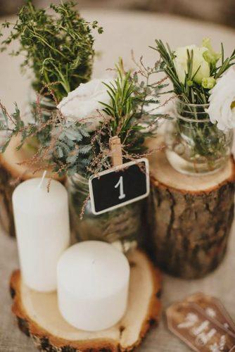 forest wedding theme table centerpiece Darya Elfutina