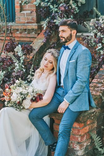 groom attire blue with bow tie jacket country mindy coe