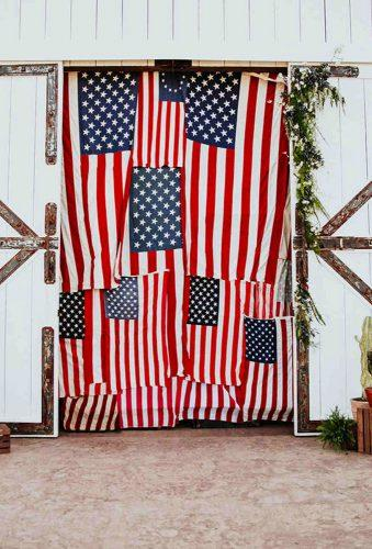 independence day wedding ceremony backdrop alexandra wallace
