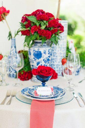 independence day wedding table decor Jennifer Crenshaw Photography