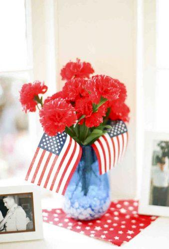 independence day wedding0table centerpiece lisablume
