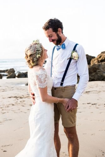 mens wedding attire short with suspenders boutonniere jessica grace