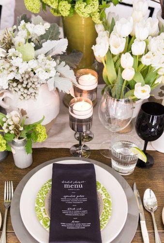 modern wedding decor black details rachelaclingen