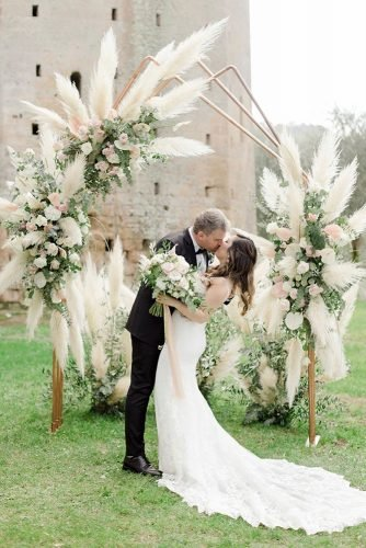 pampas grass wedding pampas grass wedding ceremony arch