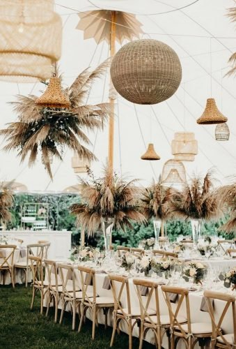 pampas grass wedding reception decor ideas henryandmac