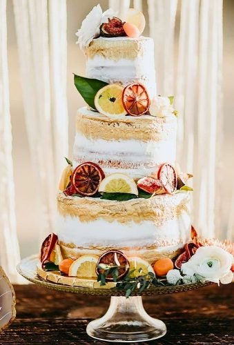 simple elegant chic wedding cakes cake with fruit decor lisettegatliffphoto