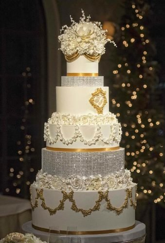 simple elegant chic wedding cakes chic sparkle cake liebeluxcakecatalogue