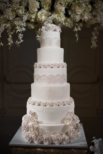 simple elegant chic wedding cakes chic white cake John and Joseph Photography