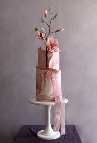 simple elegant chic wedding cakes modern pink cake cakebuds uk