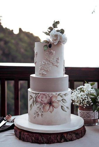 simple elegant chic wedding cakes tender watercolor cake debbiecakeartistry