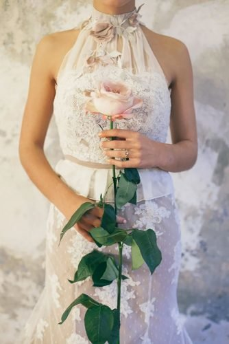 single stem wedding bouquets beautiful rose Saskia Bauermeister