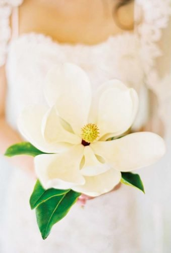 single stem wedding bouquets poen magnolia jose villa