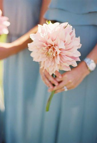 single stem wedding bouquets sing;e dahlia Curtis Wiklund Photography