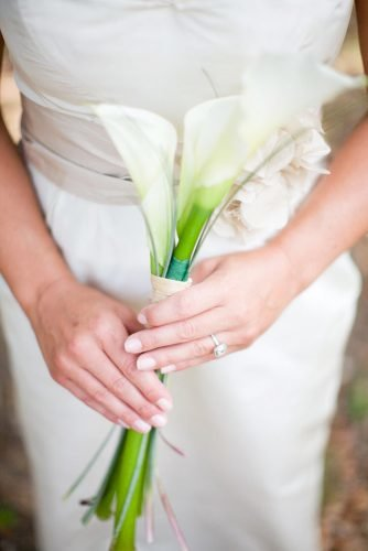 single stem wedding bouquets white calalily morrissey photo