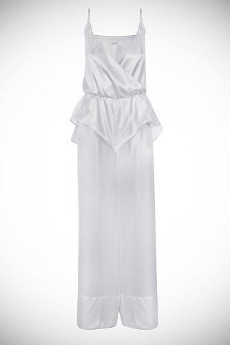 sofie turners wedding outfit bevza jumpsuit silk