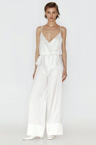 sofie turners wedding outfit silk wedding jumpsuit