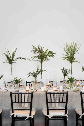 tall wedding centerpieces botanical minimalist glass vase with greenery christian oth studio