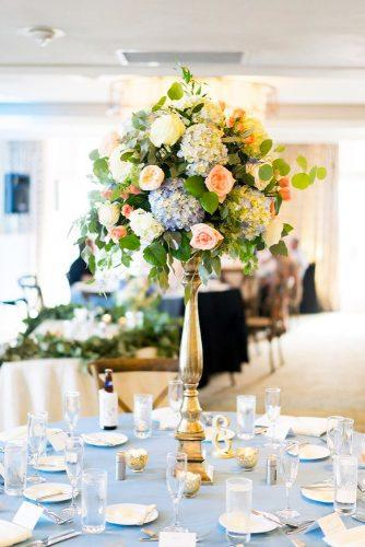 tall wedding centerpieces floral centerpiece Justin DeMutiis Photography