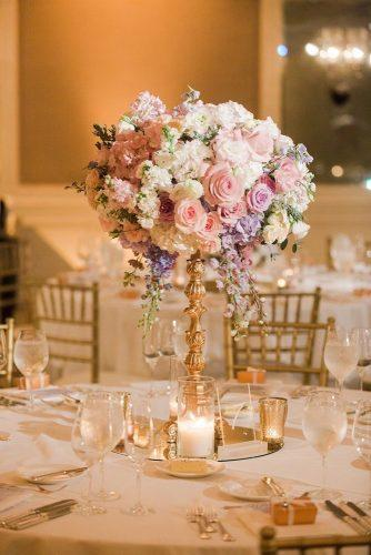 tall wedding centerpieces tender flower centerpiece Valorie Darling Photography