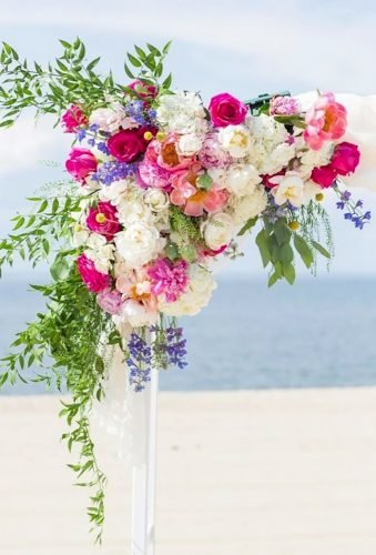 wedding arch decoration ideas colorfull arch details Kelsey Combe Photography