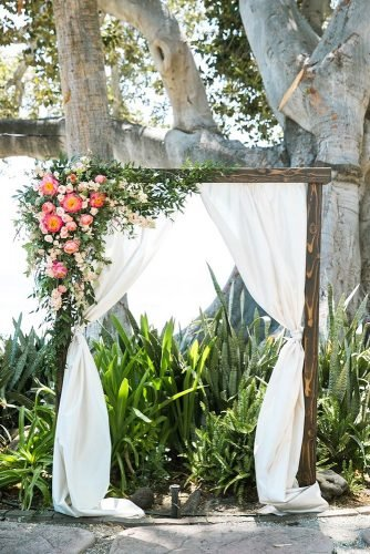 wedding arch decoration ideas tender floral arch Jasmine Lee Photography