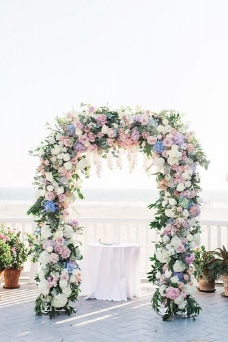 wedding arch decoration ideas tender floral arch Valorie Darling Photography
