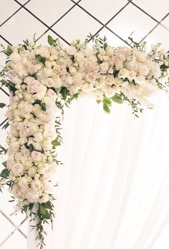 wedding arch decoration ideas white roses on arch delightfloraldesign