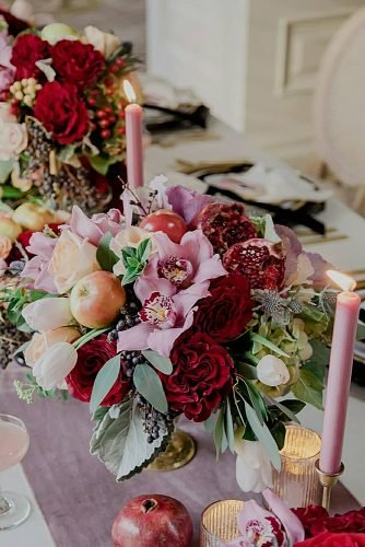 wedding centerpieces colorful flower decor