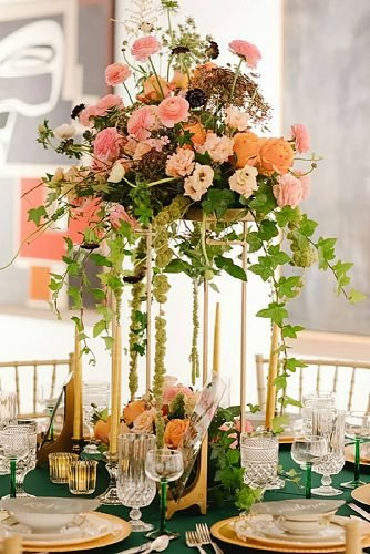 wedding centerpieces flowers tall wedding centerpiece