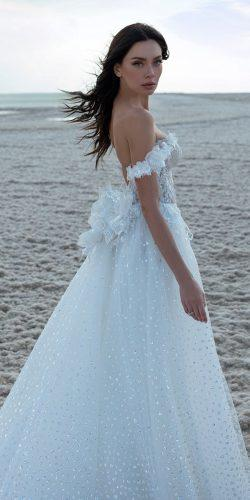 wedding dresses spring 2020 a line off the shoulder sequins for beach pnina tornai