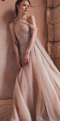 wedding dresses spring 2020 a line sequins blush beach moniquelhuillier